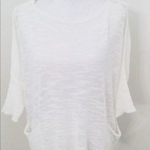 Zara White Light  Summer Sweater. Size M.